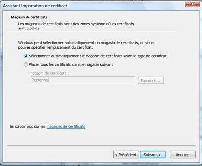 Install a client certificate in google chrome if you want to install an other kind of certificate an intermediaray authority for example click the automatically select the certificate store based on yelopaper