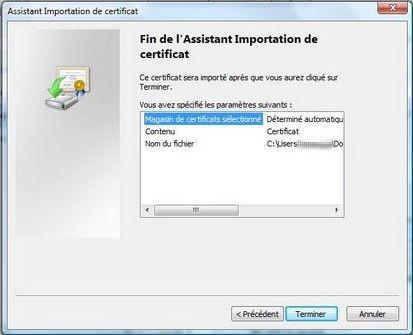 Install a client certificate in Google Chrome