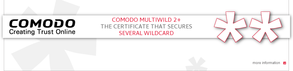 New: Secure several wildcards with Comodo MultiWild SHA256