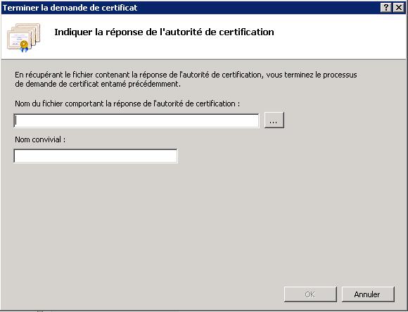 Install a Microsoft IIS7 certificate