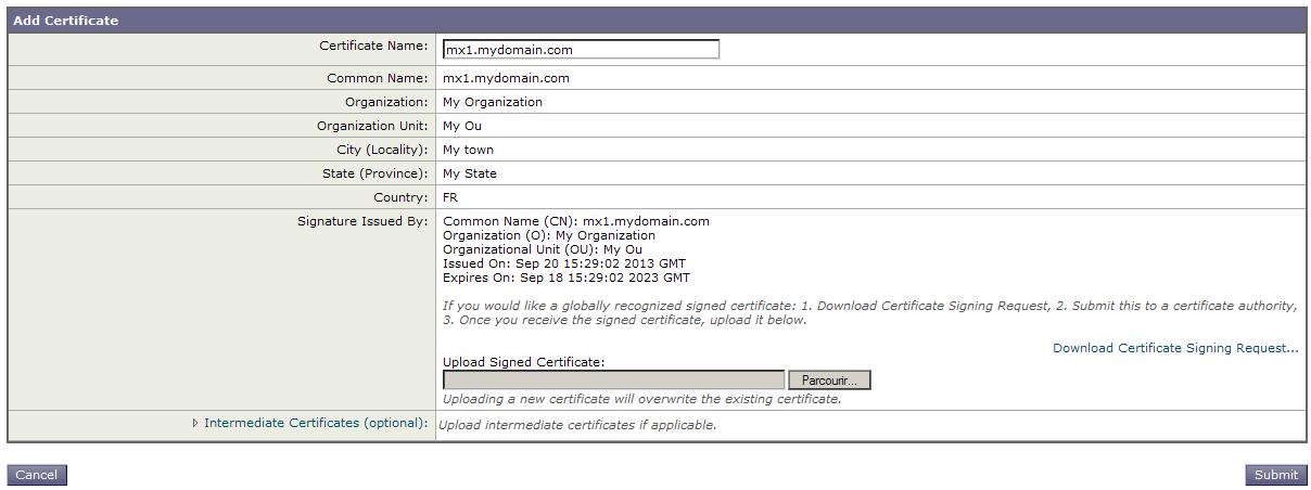 Csr Generation Cisco Ironport C170 Powered By Kayako Help Desk