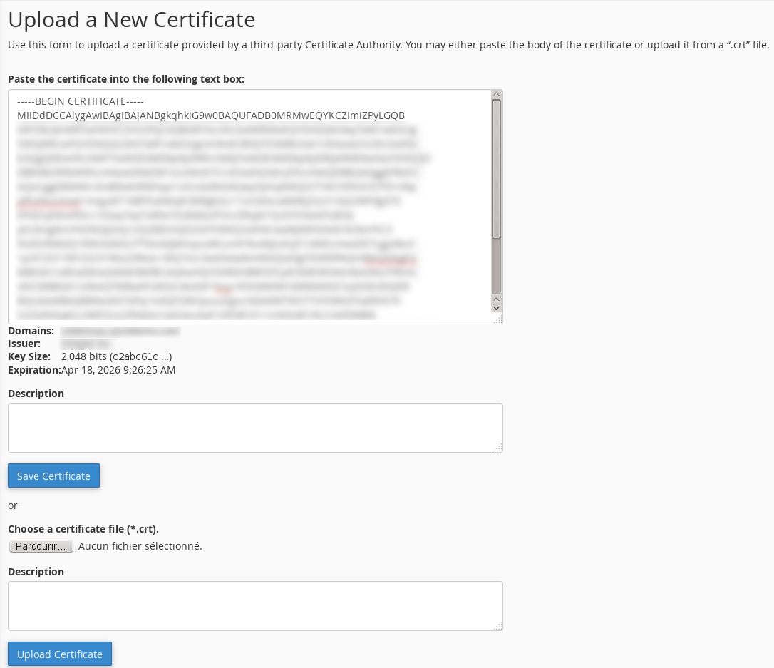 Install A Certificate On Cpanel 1154 56