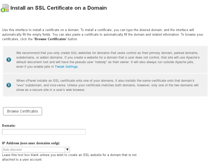 Install A Certificate On Whm 1154 56