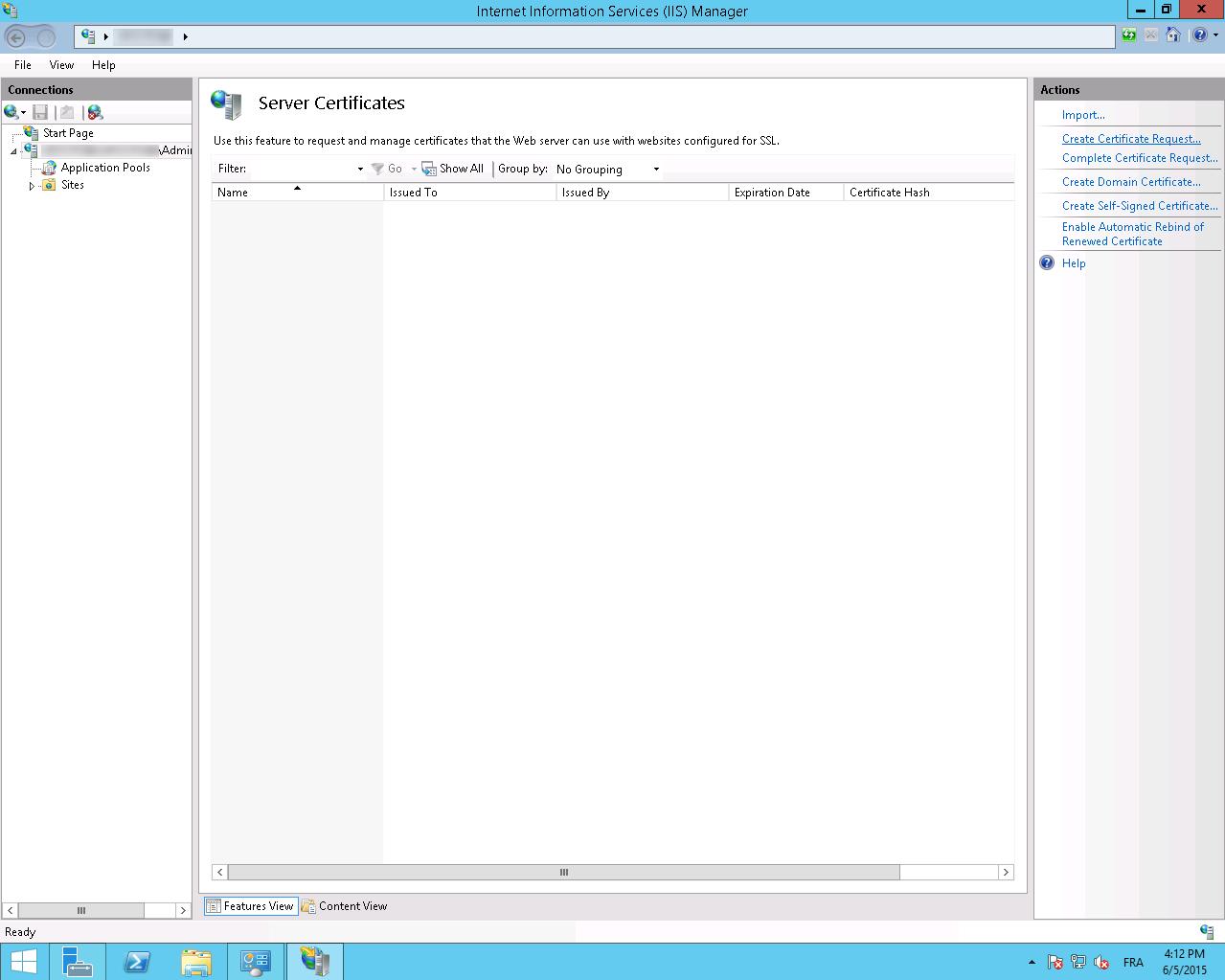Generate a CSR with Microsoft IIS8 X/10 X and Windows Server