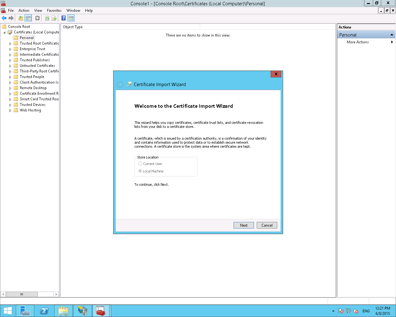 Install a pfx file with microsoft iis85 and windows server 2012r2 import dialog welcome 1betcityfo Image collections