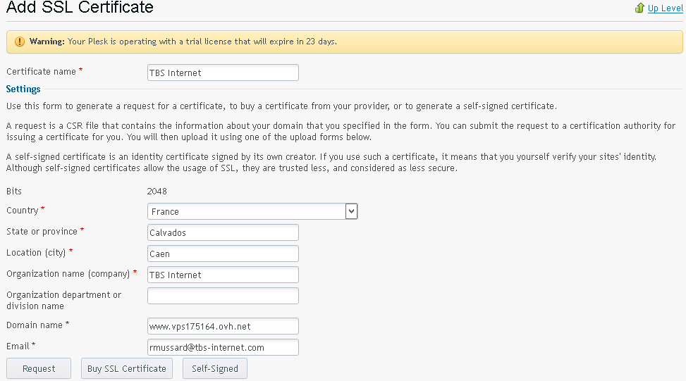 Generate A Csr For Plesk 12
