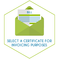 Select a certificate for invoicing purposes