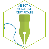 Select a signature certificate